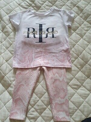"BRAND NEW AGES NB-18 M BABY GIRLS /""RIVER ISLAND/"" PEACH SWEATSHIRT//SWEATER TOP"