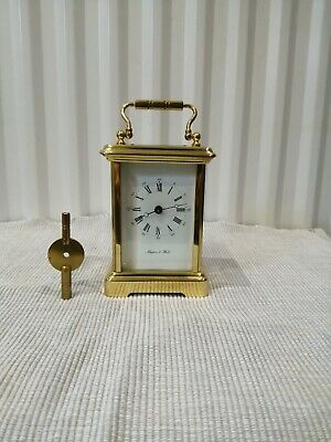 Mappin and Webb brass cased carriage clock by Bornand Freres. Fully working.