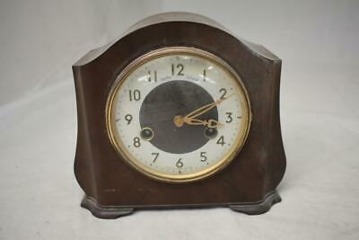 Vintage Bakelike Smiths Enfield Striking Mechanical Mantel Clock circa 1950-60s