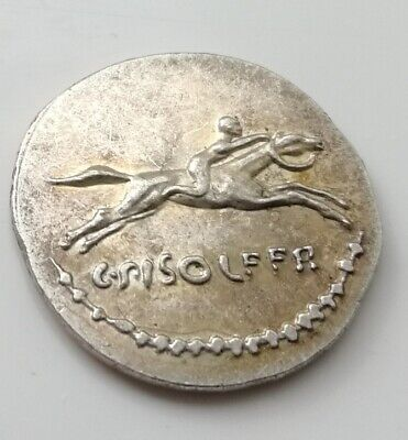 Unknown Silver Coin horse racing race rider man roman greek egyptian unusual U C