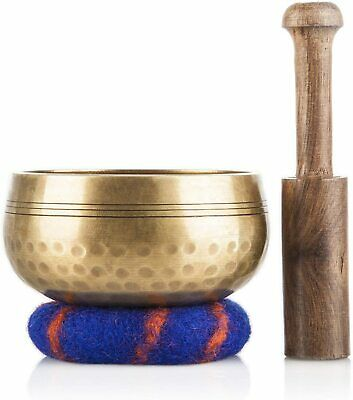 Tibetan Singing Bowl Set Meditation Sound Bowl Handcrafted in Nepal for Healing