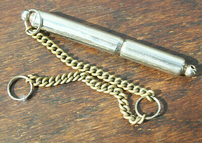veteran Acme silent dog whistle with cover and chain