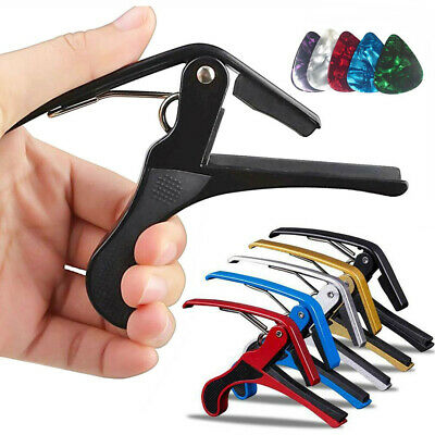 Premium Acoustic Electric Classic Ukulele Guitar Capo Quick Change Trigger Clamp