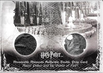 Harry Potter MM Goblet of Fire DOUBLE PROP card YULE BALL DRAPES & PROGRAMS #81