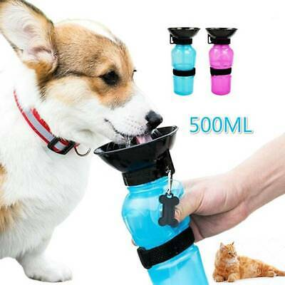 500ml Dog Drinking Travel Water Bottle Pet Puppy Portable Outdoor Feed Bottle