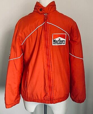 ORIGINAL MARLBORO WORLD CHAMPIONSHIP TEAM JACKET COAT MEDIUM 1980's McLAREN MP4