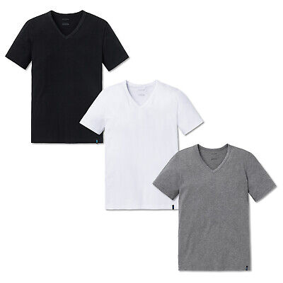 Single Jersey 95//5 Schiesser 2-Pack Camiseta de pico hombre S-4XL