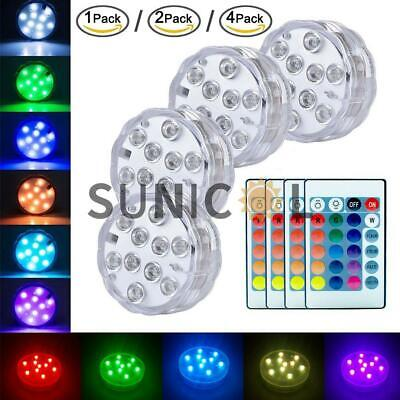 Underwater LED Light Remote Control Show Bath SPA Tub Swimming Pool Lamp Party