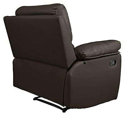 Argos Home Toby Faux Leather Manual, Armchair With Footrest Argos