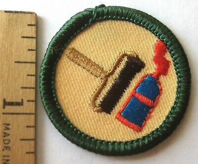 Girl Scout Junior 1980-2001 ART IN THE HOME BADGE Flower Bouquet Feng Shui Patch