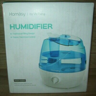 Homasy 2.2L Quiet Ultrasonic Bedroom, Easy to Clean Air Humidifier with 360°Nozzle, Auto Shut Off, Adjustable Mist Output, Blue