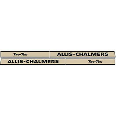 New 210 Allis Chalmers Tractor Hood Decal Set High Quality Vinyl Hood Decal 🎯