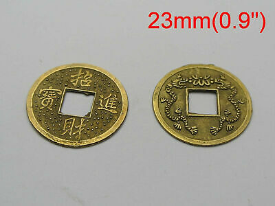10pcs Feng Shui Coins 2.3cm Lucky Chinese Fortune Coin Brass MC