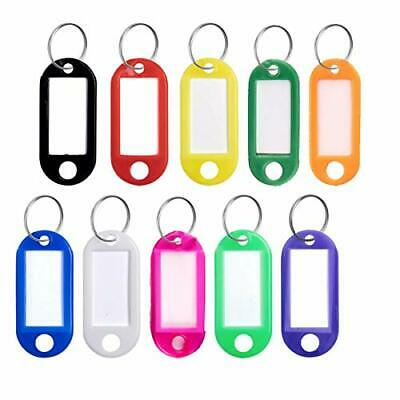 Key Tags with Split Ring 20 PCS Key Fobs Labels ID Keyring Tags for Luggage Pet