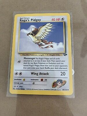 NM//MT Pokemon Gym Challenge 1st Edition Koga/'s Pidgey Uncommon 49//132