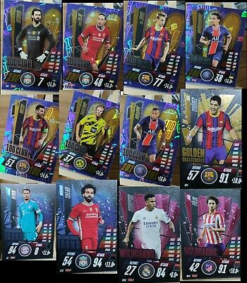 MATCH ATTAX 2020/21 Season 20/21 Foils 100 CLUB Promos Limited Edition Instock