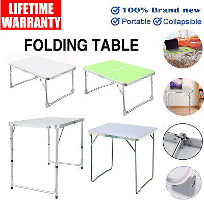 Aluminum Folding Table Portable Adjustable Height Camping Picnic Party BBQ Desk