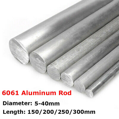 2mm to 12mm 6061 Aluminum Round Rod Solid Bar Stock 100mm Length PKG//16