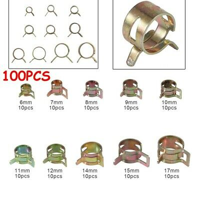 MIKALOR Double Wire Fuel Hose Clips Self Clamping Spring Band Type Silicon Clamp