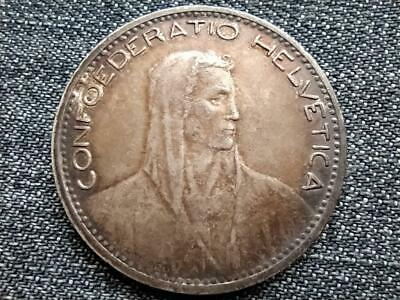 Switzerland 5 Francs .900 Silver Coin 1923 B
