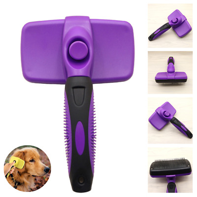🏆Grooming Brush For Pet Dog Cat Deshedding Tool Comb Fur Remover Reduce Hair🏆