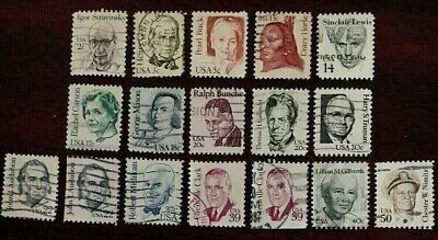 US 17 1980-85 GREAT AMERICANS Stamps, Used, See Descr, Scott#1845-1869,   USU94