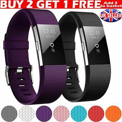 For FITBIT CHARGE 2 strap Watch Replacement Wrist Band Wristband Metal Buckle