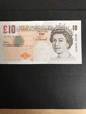 Old £10 Note Bank Of England Charly's Darwin 2000 Signed Victoria Cleland .
