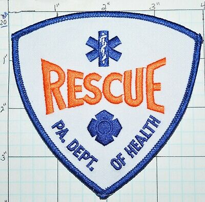 Search Rescue Compass Star Of Life Firefighter// Rescue Patch Blue X-6#20