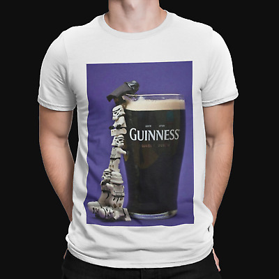 T SHIRT beer hello darkness my old friend stout pup stag drinking funny booze