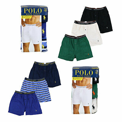 Polo Ralph Lauren Mens Underwear Classic Fit 3 Piece Boxers Pony Logo New Prl S