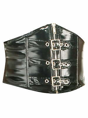 Killer Corsets PVC Buckle Waspie Belt in Black