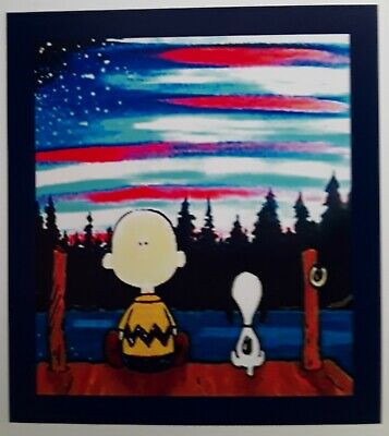 Peanuts ☆ Snoopy ☆ Charlie Brown ♡ New York ♡ Twin Towers Tribute Magnet.