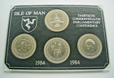1984 30th COMMONWEALTH PARLIAMENTARY CONFERENCE ISLE OF MAN CROWNS SET. IoM MANX