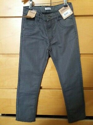 Boys 3pommes designer grey lined jeans 8a 10a 8 10 years bnwt new