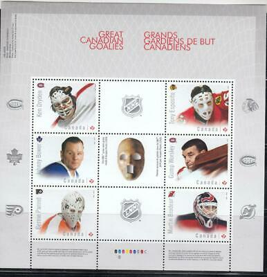 Canada Vf-Mnh Great Canadian Goalies S/Sheet Post Office Fresh
