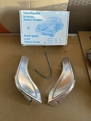 Classic Vw Beetle Rear Stone Gravel Guards Swedish Stainless Steel Type 1 Bug
