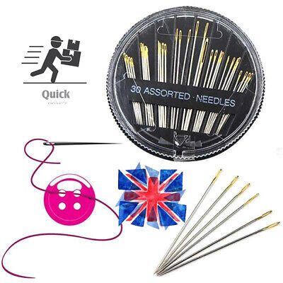 30pcs Assorted Hand Sewing Needles Embroidery Mending Craft  Sewing Set Thread