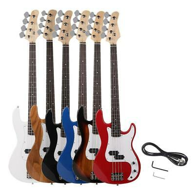 New 6 Color Top Grade Electric Bass Guitar Set w/ Power Wire Tools