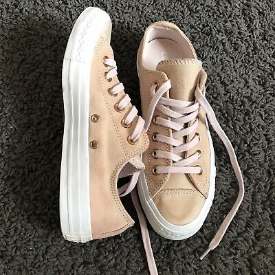 pale pink leather converse