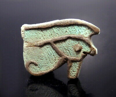 Egyptian Faience Eye Of Horus Amulet. Very Large (N524)