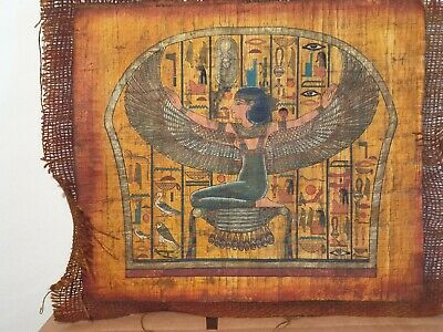 Rare Antique Ancient Egyptian Papyrus God Isis Good Health cure medicine 1650 BC
