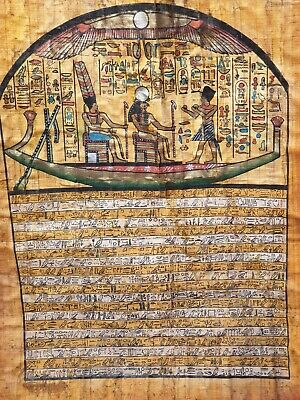 Rare Antique Ancient Egyptian Papyrus Funeral Boat Book Dead Magic words1740 BC