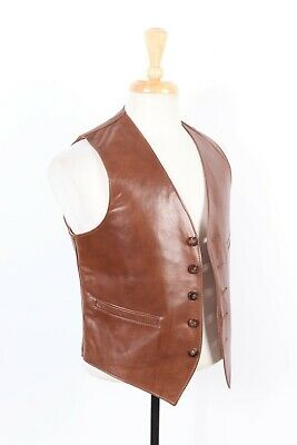Vintage NORDSTROM Lambskin Leather Vest USA Mens Size Small
