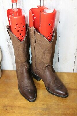 Texas 7.5 EE Brown Leather Western Men's Boots