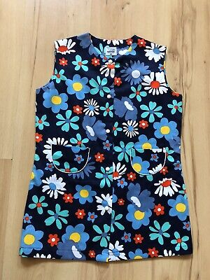 Vintage Age 8 Blue Flower Print Tunic Style Top