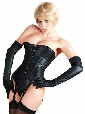 Killer Corsets Leather Corset With Detachable Suspender Straps