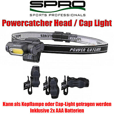 Spro Powercatcher LED Cap-Light Kopflampe incl Batterien