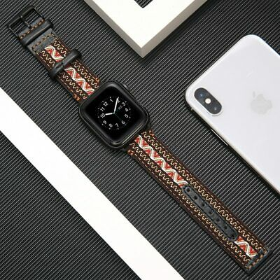 nylon+Genuine Leather strap for apple watch band 42mm 38mm iwatch 3/2/1 bracelet