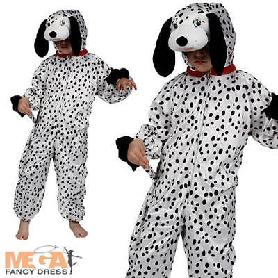 Boys Childs Dalmation Puppy Dog Animal Girls Fancy Dress Costume Outfit Zoo